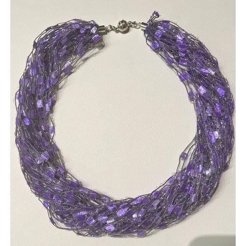 Copper Moor Designs Sparkle Fiber Halskette Violett und Malvenfarben 10