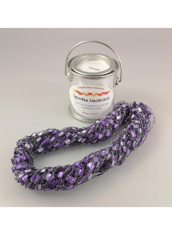 Sparkle Fiber Halskette Violett und Malvenfarben 10