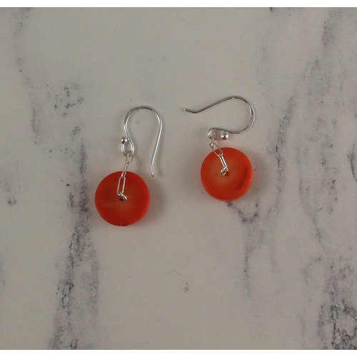 Melissa James Coral disc drop earrings 90