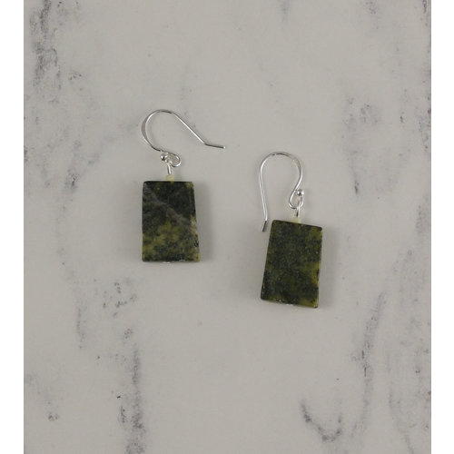 Melissa James Moss agate drop earrings 96
