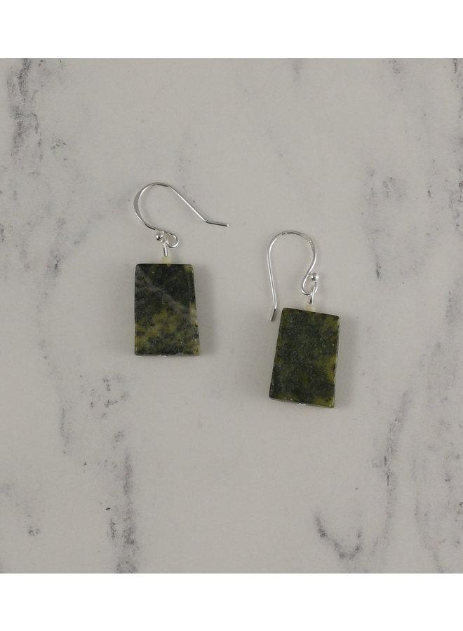 Moss agate drop earrings 96