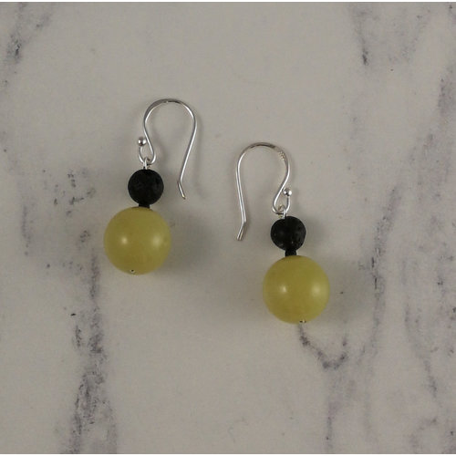 Melissa James Olive jade drop earrings 93