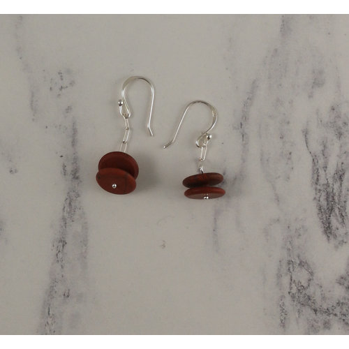 Melissa James Red Jasper drop earrings 89