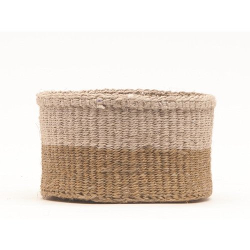 The Basket Room Chali Brown and Beige Sisal small basket 08
