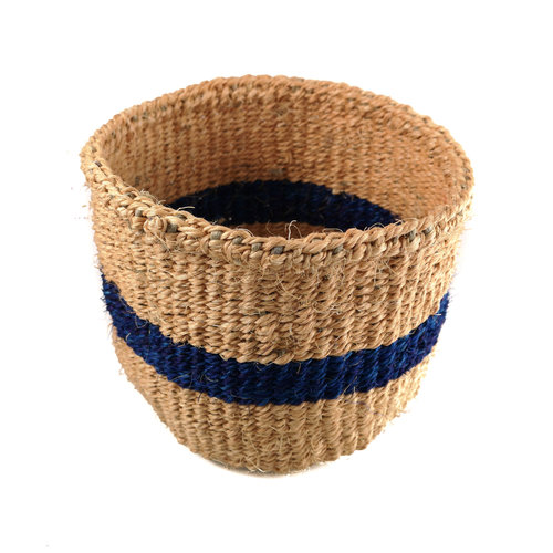 The Basket Room Raya azul de tejido fino Sisal Xsmall baskekt 26