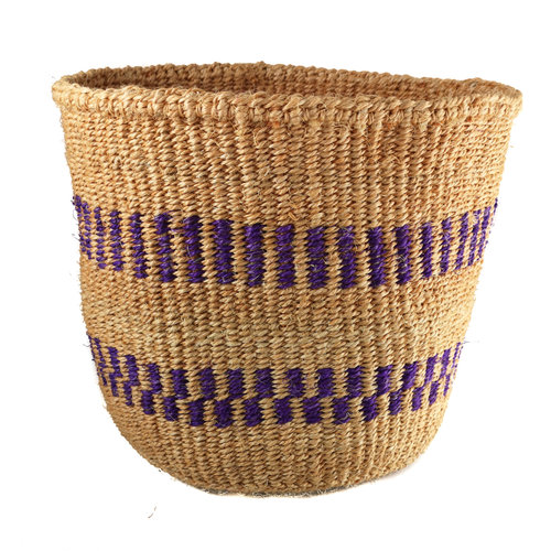 The Basket Room Tejido fino Púrpura raya medio Sisal baskekt 33
