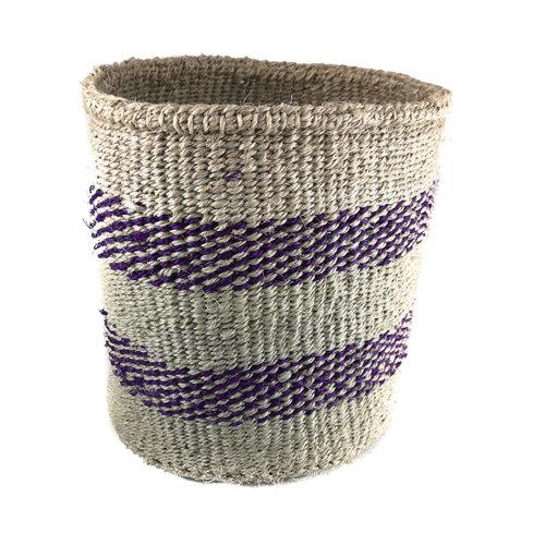 The Basket Room Fein gewebter Purpurstreifen mittel Sisal baskekt 31