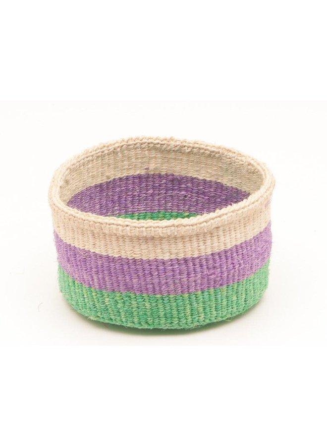 Hela Green und Purple Sisal mittlerer Korb 06
