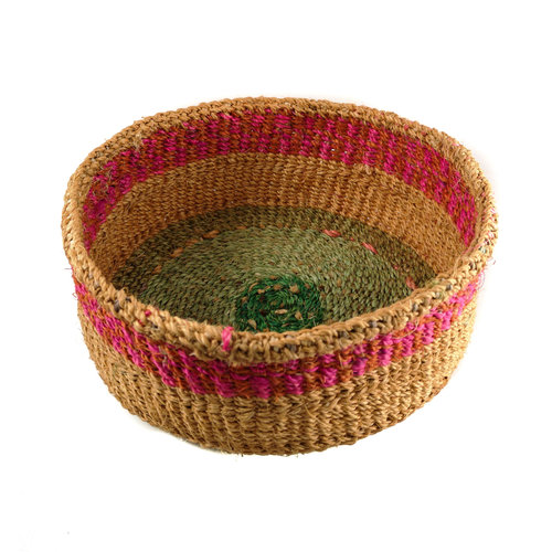 The Basket Room Mkate rosa raya hierba canasta tejida a mano 14