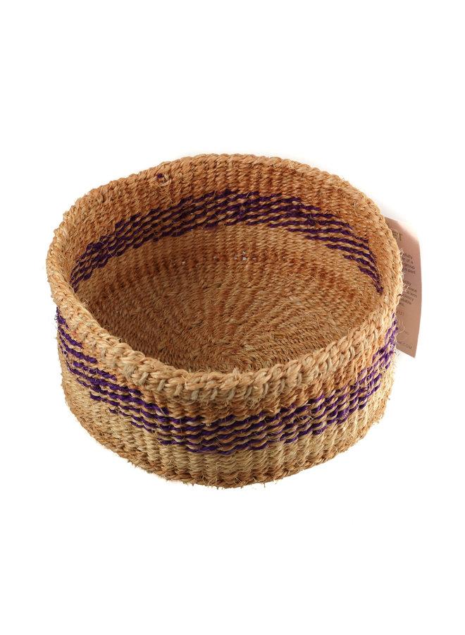Mkate Purple Stripe Grass handgewebter Korb 20