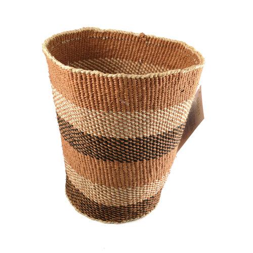 The Basket Room Tribal geometric Sisal small  baskekt 25