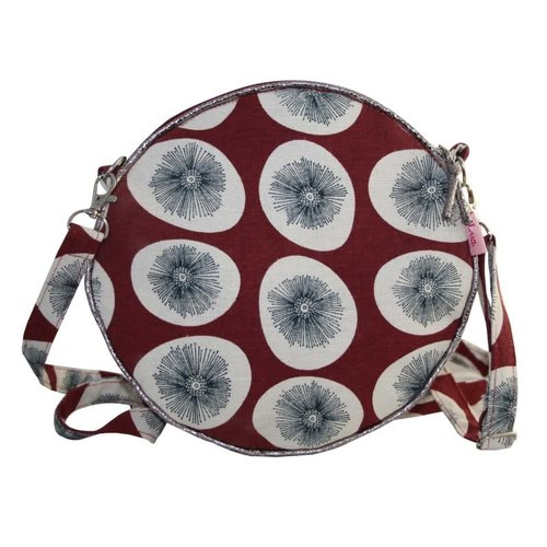 LUA Round Messenger Bag dandelion sienna red 162