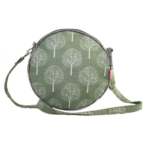 LUA Round Messenger Bag Mulberry tree light olive 163