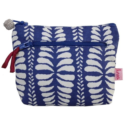 LUA Two zip purse Mulberry fern cobalt blue 158