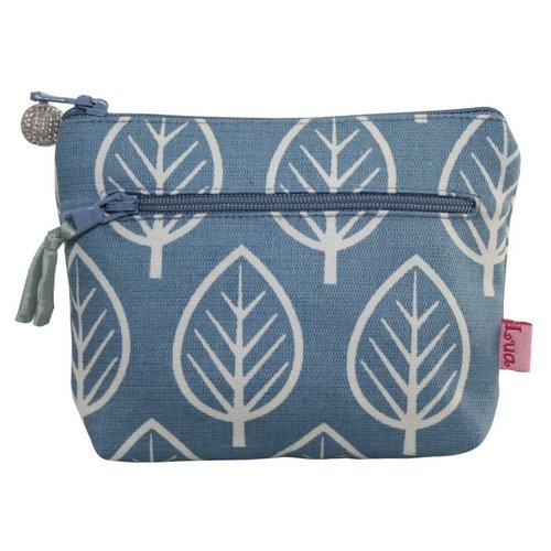LUA Two zip purse Mulberry leaf pale blue 157