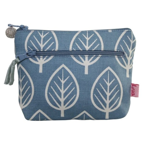 Two zip purse Mulberry leaf pale blue 157