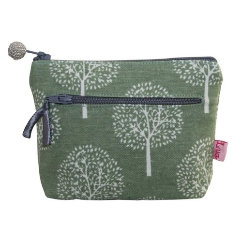 LUA Two zip purse Mulberry Light olive 155