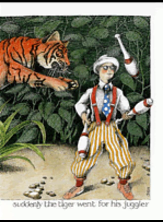 Tiger Went for his Juggler card