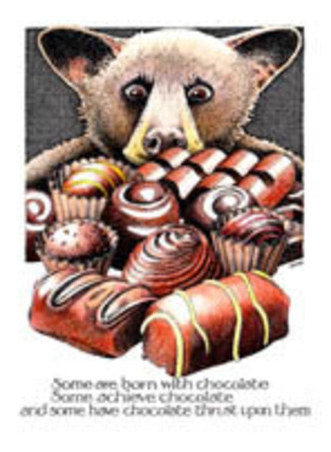 Born with Chocolate  card