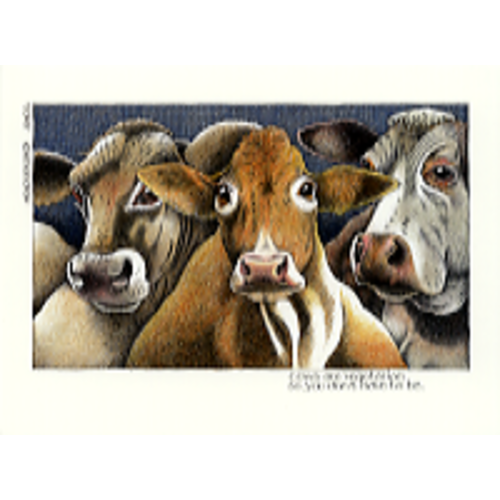 Simon Drew Designs Cows are Vegetarian  card 107
