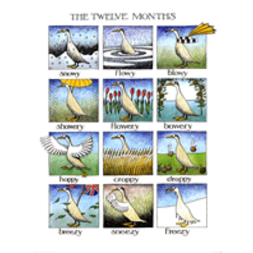 Simon Drew Designs The Twelve Months card 103