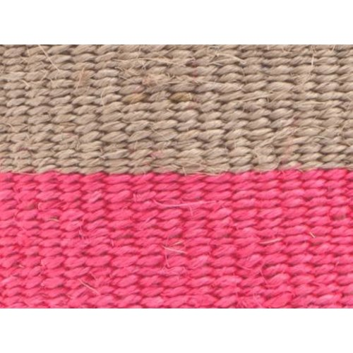 The Basket Room Maliza Grey and Florescent Pink sisal small basket 02