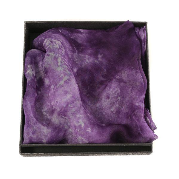 Dusky Lavender Long Gossamer Silk Scarf  Boxed 98