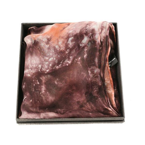 Tortoiseshell Long Gossamer Silk Scarf boxed 40 x 145cm