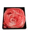 Coral Crinckle pañuelo de seda ancho regalo en caja 102