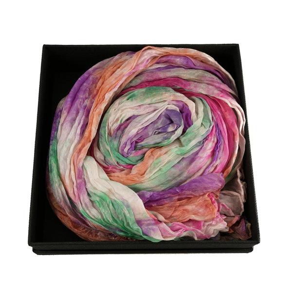 Harmony Crinckle breiter Seidenschal Geschenkbox 104