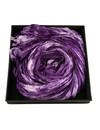 Dusky Lavender Crinckle pañuelo de seda ancho regalo en caja 105