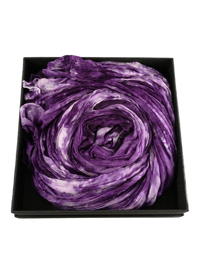 Dusky Lavender Crinckle breiter Seidenschal Geschenkbox 105