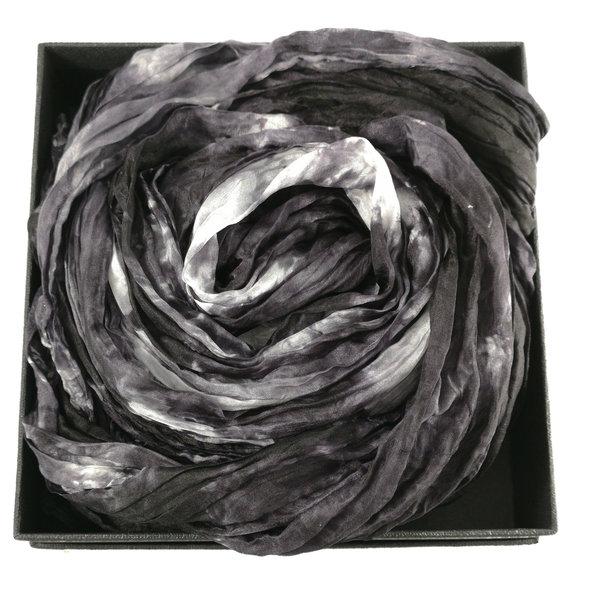 Pañuelo de seda ancho Pincel Crinckle en caja 103