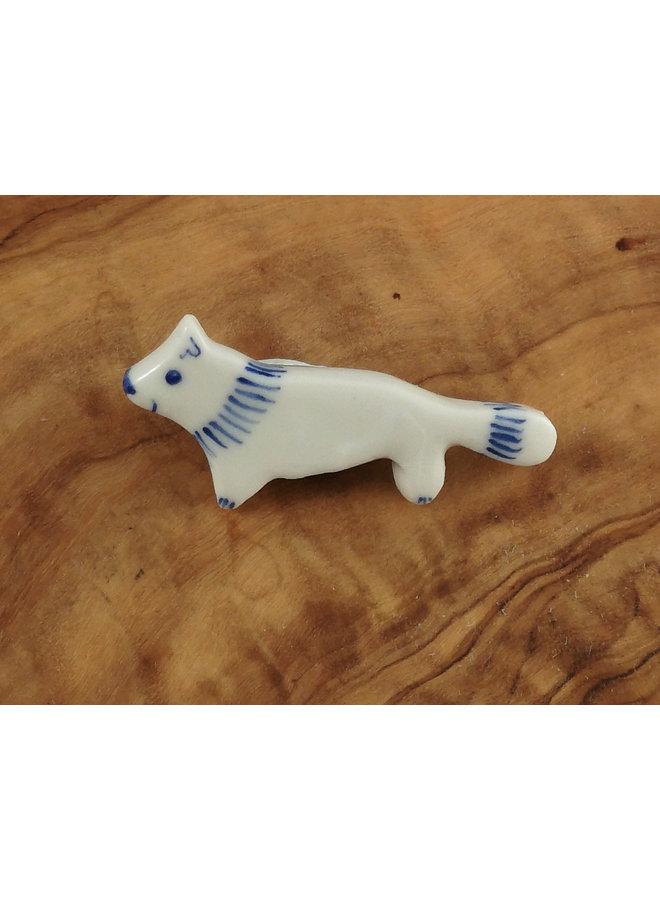 Fox kleine Keramikbrosche 102
