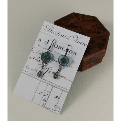 Judith Brown Bohemia aqua drop earrings 20