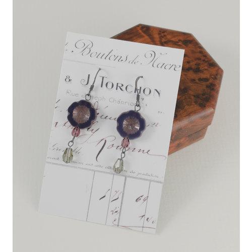 Judith Brown Bohemia deep purple  drop earrings 21