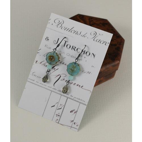 Judith Brown Bohemia duck egg blue drop earrings 17