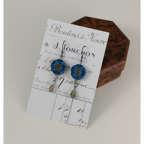 Judith Brown Bohemia peacock drop earrings 19