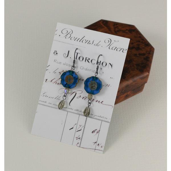 Bohemia peacock drop earrings 19