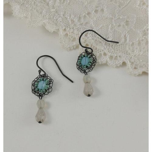 Judith Brown Opulance aqua  drop earrings 09
