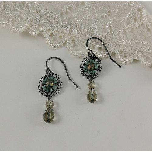 Judith Brown Opulance aqua and green drop earrings 08