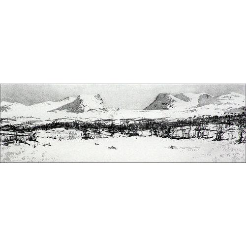Ian Brooks Lapporten grabado 22 enmarcado