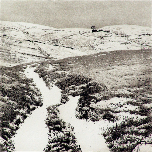 Ian Brooks Snow At Top Withens - etching  007 unframed