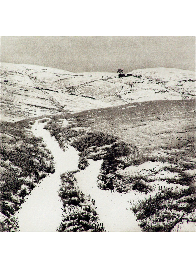 Snow At Top Withens - Radierung 007 ungerahmt