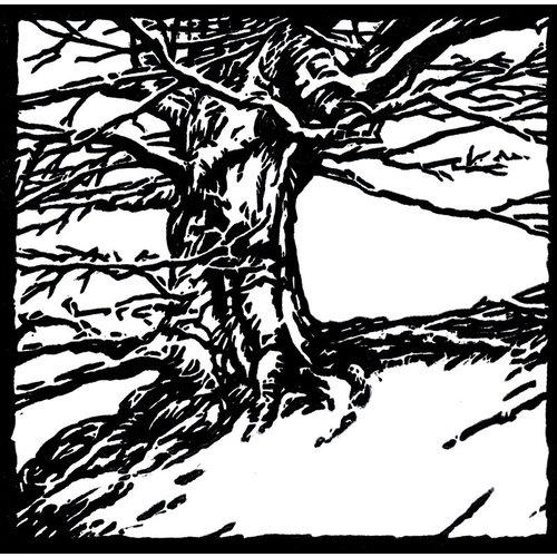 Ian Brooks Árbol en Hardcastle Craggs - corte de lino 31 sin enmarcar