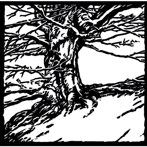 Ian Brooks Tree at Hardcastle Craggs  - lino cut 31 unframed