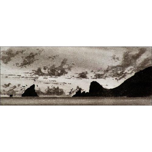 Ian Brooks Crepúsculo, grabado de Gough Island 25 sin enmarcar