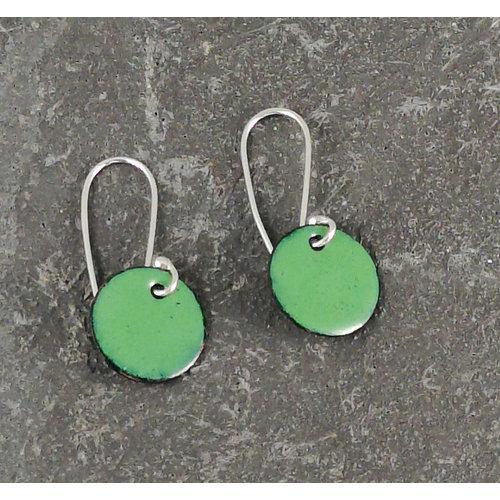 Jane Marshall Pendientes esmaltados redondos verde 05