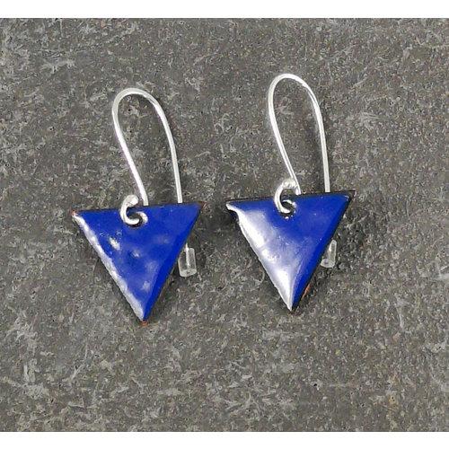 Jane Marshall Dreieckige Emaille Ohrringe blau 11