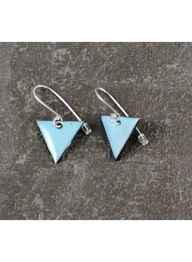 Dreieckige Emaille-Ohrringe himmelblau 12